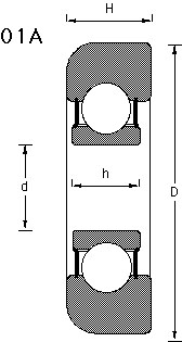 01A mast bearing drawing