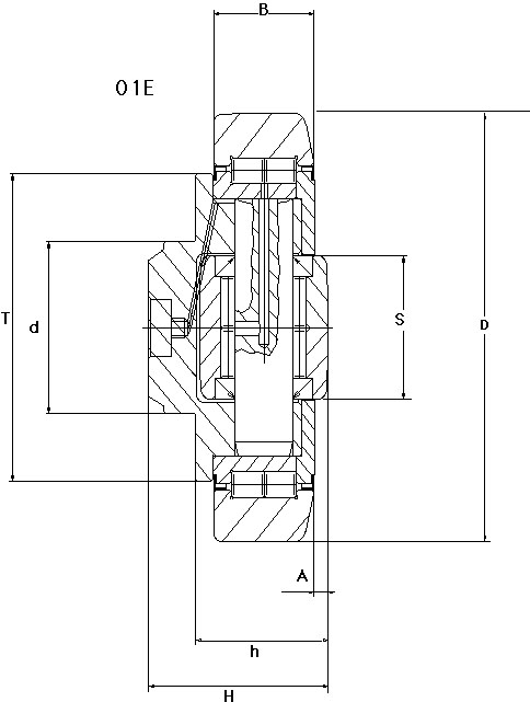 Drawing of combined roller bearing